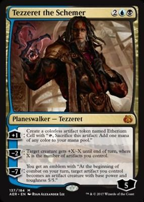 1x TEZZERET THE SCHEMER - Rare - Aether Revolt - MTG - NM - Magic The Gathering