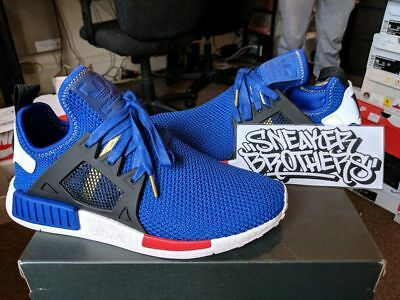 buy online a241a b00f3 Adidas Originals NMDXR1 Nomad Boost Mystery Blue Vivid Red White Black  AC7185