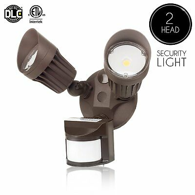 1 X 20W LED Security Light Two Headed Motion Sensor Outdoor Waterproof