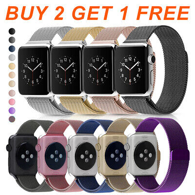 Magnetic Milanese Loop Stainless Steel Band for Apple Watch Series 4 3 2 1 #89A