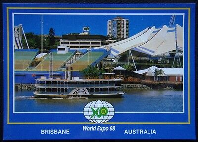 World Expo 88 Brisbane Australia Kookaburra Queen Cruise Boat Postcard (P248)