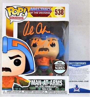 Alan OPPENHEIMER SIGNED MAN-AT-ARMS Funko Pop Autograph BECKETT BAS COA 496