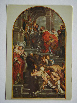 St Bavo Cathedral Ghent P P Rubens Entrance Postcard