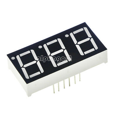 2PCS 0.56 Inch 3 Digit 7 Segment Common Cathode Red Led Display NEW