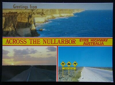 Greetings from Balladonia WA Across the Nullarbor Eyre H c1970's Postcard (P239)