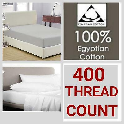 "400 Thread Count 100% Egyptian Cotton Extra Deep Fitted Sheet 16"" (40cm) Depth"