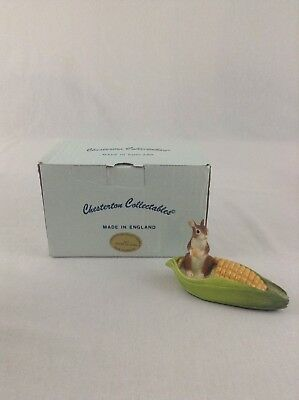 Chesterton Collectible Mice Mouse In Ear Of Corn Eating Figurine England