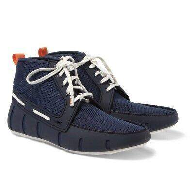 133aae2ecfa27 SWIMS Boat Shoes Sport Loafer High Top Shoe BLUE Size 11 (EURO 45)  196.00