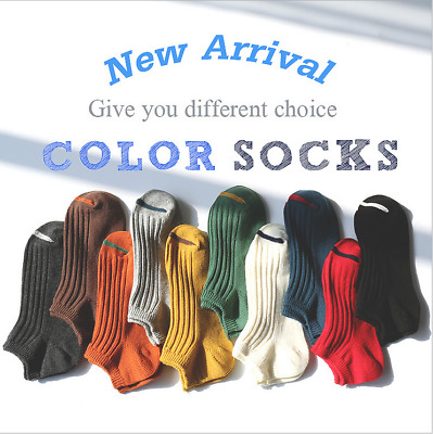 5 Pairs Mens/Womens Cotton Ankle No Show Casual Solid Sports Boat Socks Low Cut