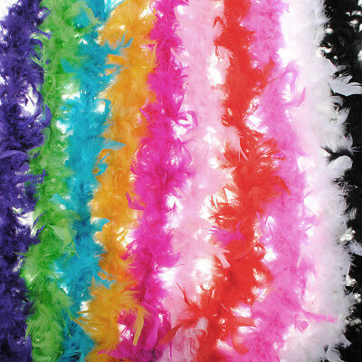 🇬🇧 2M FEATHER BOA FLUFFY Fancy COSTUME DRESSUP WEDDING PARTY FLOWER HOME DECOR