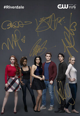 Riverdale Cole Sprouse KJ Apa All Cast Autographed Signed Poster Photo Re-print!