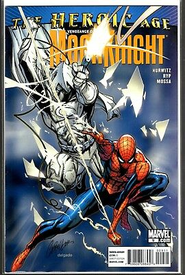 Marvel Comics VENGEANCE OF MOON KNIGHT #9 J SCOTT CAMPBELL SPIDER-MAN COVER