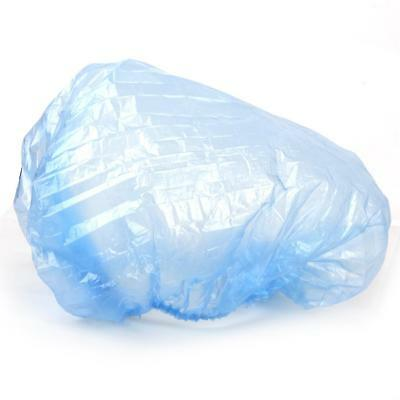 100 Pack Disposable Shower Caps Bathing Clear Hair Care Protector Hat Blue