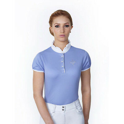 Just Togs Jewel Womens Shirt Competition - Baby Blue All Sizes