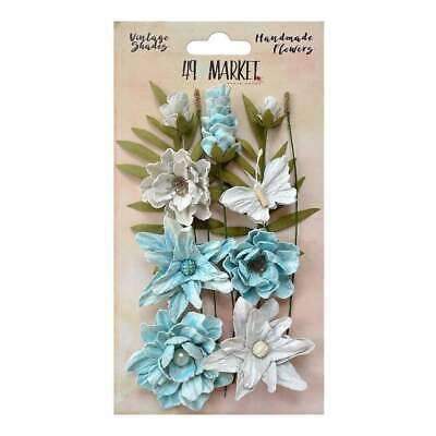 NEW 49 And Market Vintage Shades Cluster Flowers 13 pack - Blue