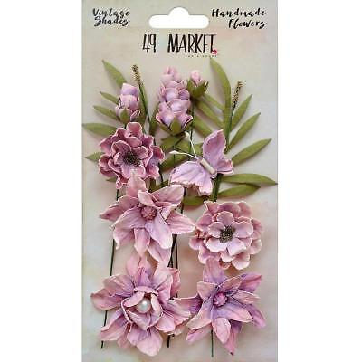 NEW 49 And Market Vintage Shades Cluster Flowers 13 pack - Orchid