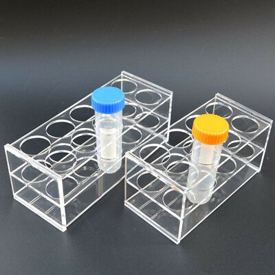 LARGE 8 Holes Test Tube Rack Testing Holder Storage Plastic Stand - 30mm Holes