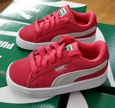 Puma Suede Classic Infant 365076 04 Paradise Pink White Toddler Us Sz 9C cdfac2bcb