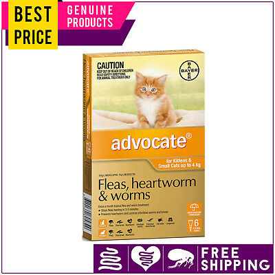 ADVOCATE for Cats 6 Doses + FREE 2 Doses ORANGE Pack Upto 4 Kg