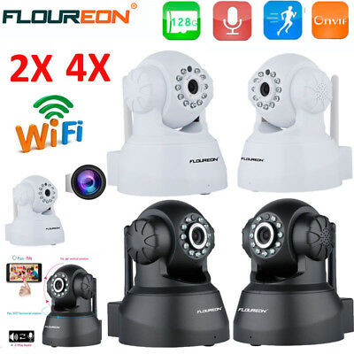 Wireless Wifi PT 720P HD IP Cameras P2P CCTV Security System MIC SD Baby Monitor