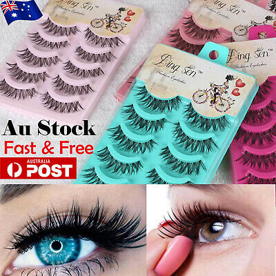 10 Pairs Natural Thick Fake False Eyelashes Handmade Extension Eye Lashes Makeup