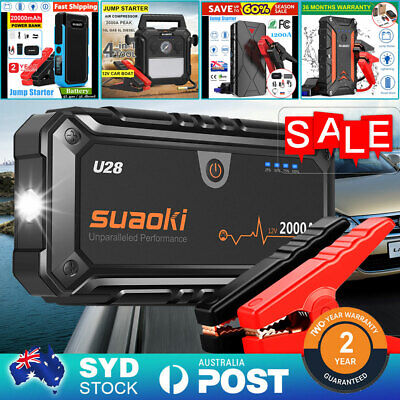 Suaoki G7/G7 PLUS Car Jump Starter Power Bank Battery Charger 80PSI 150PSI Pump