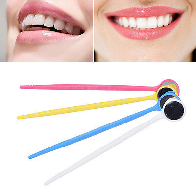 10Pcs Disposable Plastic Dental Mouth Mirror Reflector Electronic Colored haka