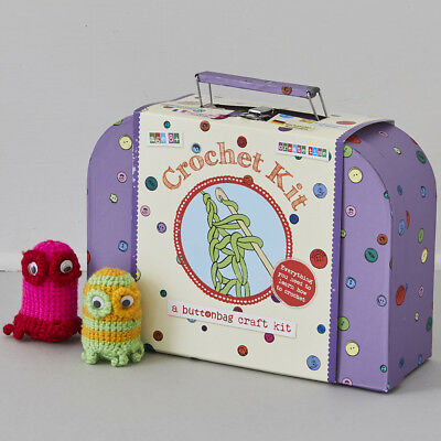 Buttonbag Learn to Crochet Kit in a Suitcase - Crochet for Kids
