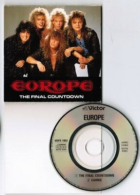 """EUROPE The Final Countdown /Carrie JAPAN 3"""" CD SINGLE VDPS-1002 SNAPPED/ FOLDED"""