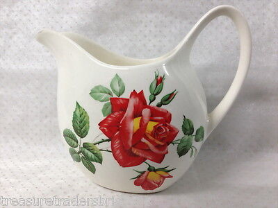 Midwinter Modern England Milk Jug Orange Yellow Roses & Rose Bud Design