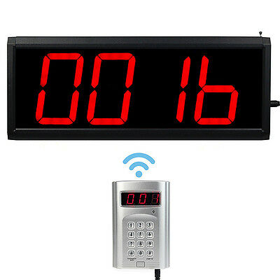 Wireless Call Number System Restaurant Paging Queuing System transmitter+host US