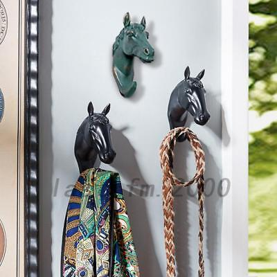 Creative Animal Head Horse Head Hooks Resin Coat Hat Wall Hanger Home Decor 1Pc