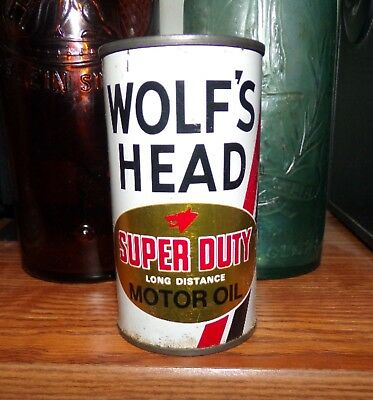 "Wolf's Head Motor Oil Can Bank - 3 7/8"" Tall"