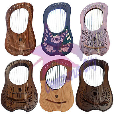 CC New Lyre Harp 10 Metal Strings Different Design Free Bag/Lyre Harp/lyre Harfe