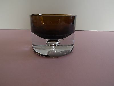 Marks & Spencer Amber & Clear Glass Candle Holder (73.138)