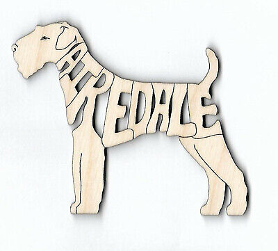 Airedale Terrier Dog wood laser cut Magnet or Ornament