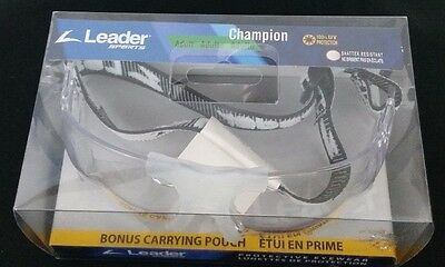 Leader Sports Pro Racquetball Tennis Protective Eyewear Goggles Sport New
