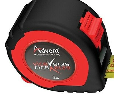 ADVENT UK 8M Dual  Double Sided Pocket Work Tape Measure FREE P+P{