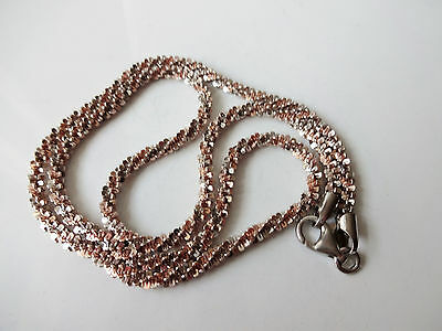 Beautiful Gold on Sterling Silver  hallmarked Sparkling Necklace