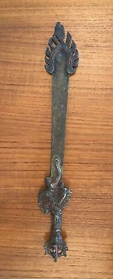 Antique African Tribal Medicine Man Witch Doctor Ritual Scepter w/Flame Design