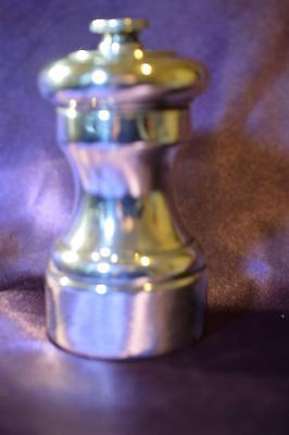 """Vintage 4"""" Sterling Silver Pepper Mill made in France"""