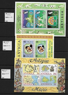 Stamps. Antigua. 10 miniature sheets. All MNH.