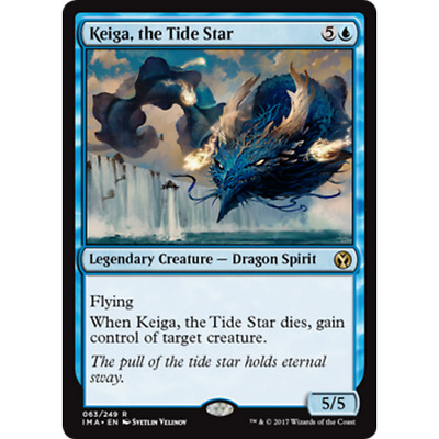 1x KEIGA, THE TIDE STAR - Rare - Iconic Master - MTG - NM - Magic the Gathering