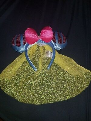 Disney Parks Exclusive Snow White Ears Headband with Veil NEW WITH TAGS (GB1)