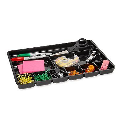 9-Section Desk Drawer Organizer Tray Plastic Tool Box Storage Holder Home Office