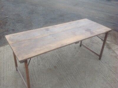 Vintage Pine Table, Solid Thick Pine, Great Garden Or Shop Table