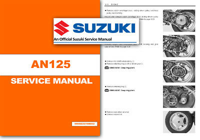 Suzuki AN125 Workshop Service Shop Manual Burgman AN 125 Scooter