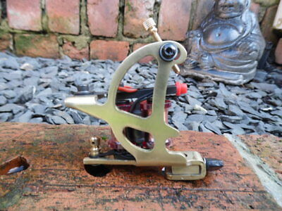 Hot Irons Custom Danny Hawkins Solid Brass Pro Tattoo Machine, Power Liner