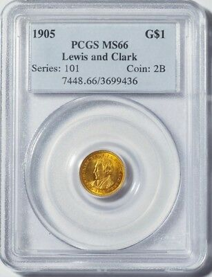 1905 G$1 Lewis and Clark PCGS MS66