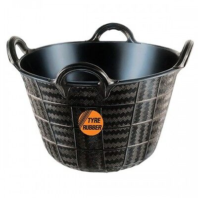 Real Rubber 4 Hand Trug Bucket Great To Lift Or Hoist - Heavy Duty Bucket